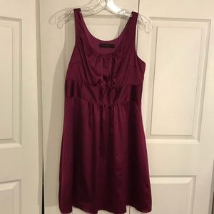 The Limited purple satin dress size 10